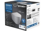 Duravit ME by Starck Súprava WC závesný Compact Duravit Rimless s sedadlom klozetovým wolnoopadającą,farba biely