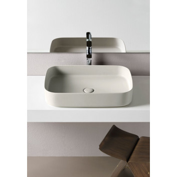 Umývadlo Cielo Shui Comfort, na postavenie na dosku, obdĺžniková, 60x40 cm, polvere
