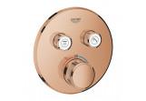 Batéria podomietková Grohe Grohtherm SmartControl termostatická 2-prijímače vody, warm sunset
