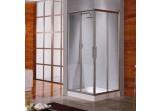 Sprchový kút Novellini Lunes A 90-93 cm rohová - 1 časť, profil chróm, sklo číre
