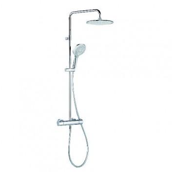 Zestaw prysznicowy Kludi Freshline Dual Shower System z termostatem, wys. 914-1233, chrom- sanitbuy.pl