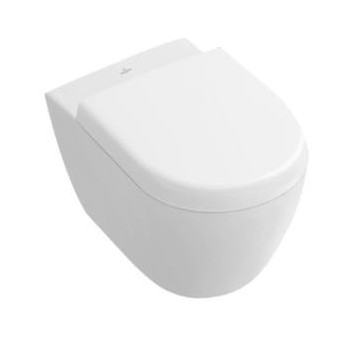 Závesné wc WC Villeroy & Boch Subway 2.0 biela Alpin CeramicPlus, 48 x 35,5 cm, bez rantu- sanitbuy.pl