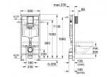 Modul podmietkowý Grohe Rapid SL pre závesné WC 113cm vysoký